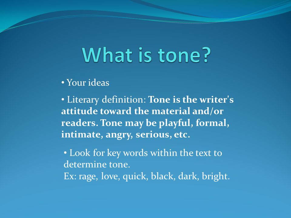 objective tone definition