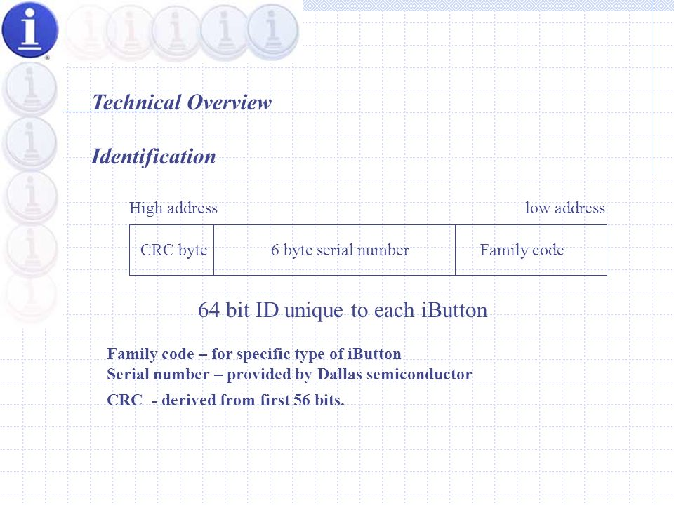 3 3 ONE WIRE COMMUNICATION TOUCH MEMORIES I - BUTTONS References ppt