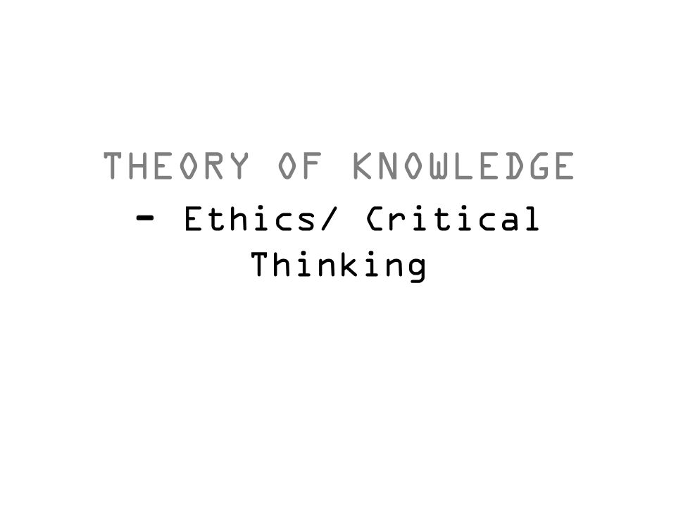theory of knowledge paper essay Theory of knowledge: sense perception research paper sense perception , by definition, is a concept by or based on sensations sensation, a physical feeling resulting from something that comes into contact with the human body.
