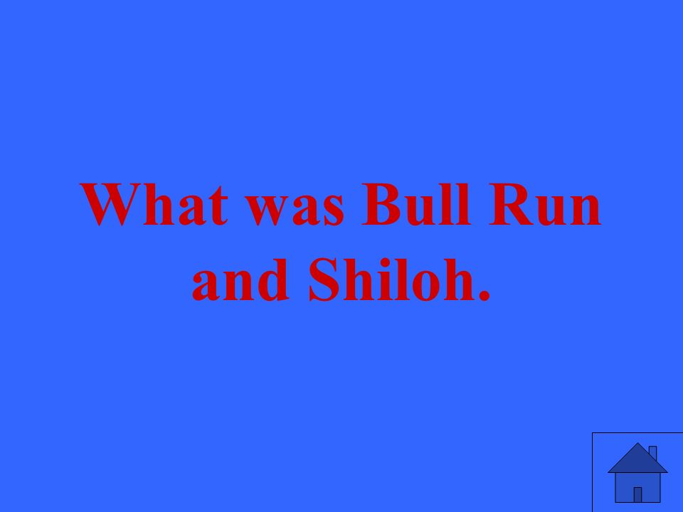 What was Bull Run and Shiloh.
