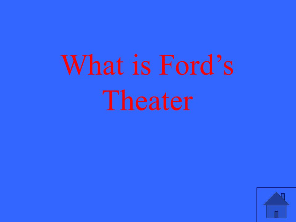 What is Ford's Theater