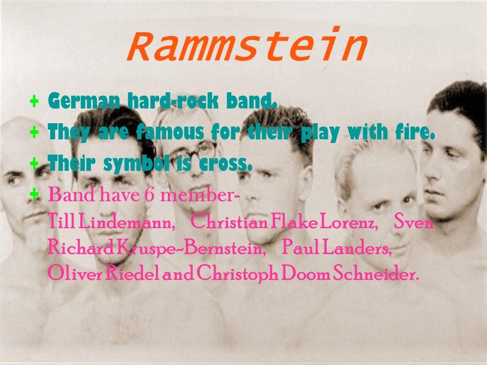 RAMMSTEIN author: lukas novotny  History of Rammstein ∙Band