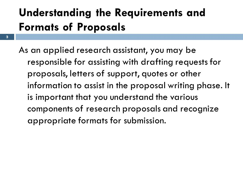 Part II: Planning Your Research Project Module Six: Proposal