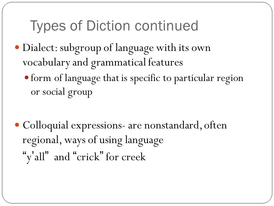 diction examples