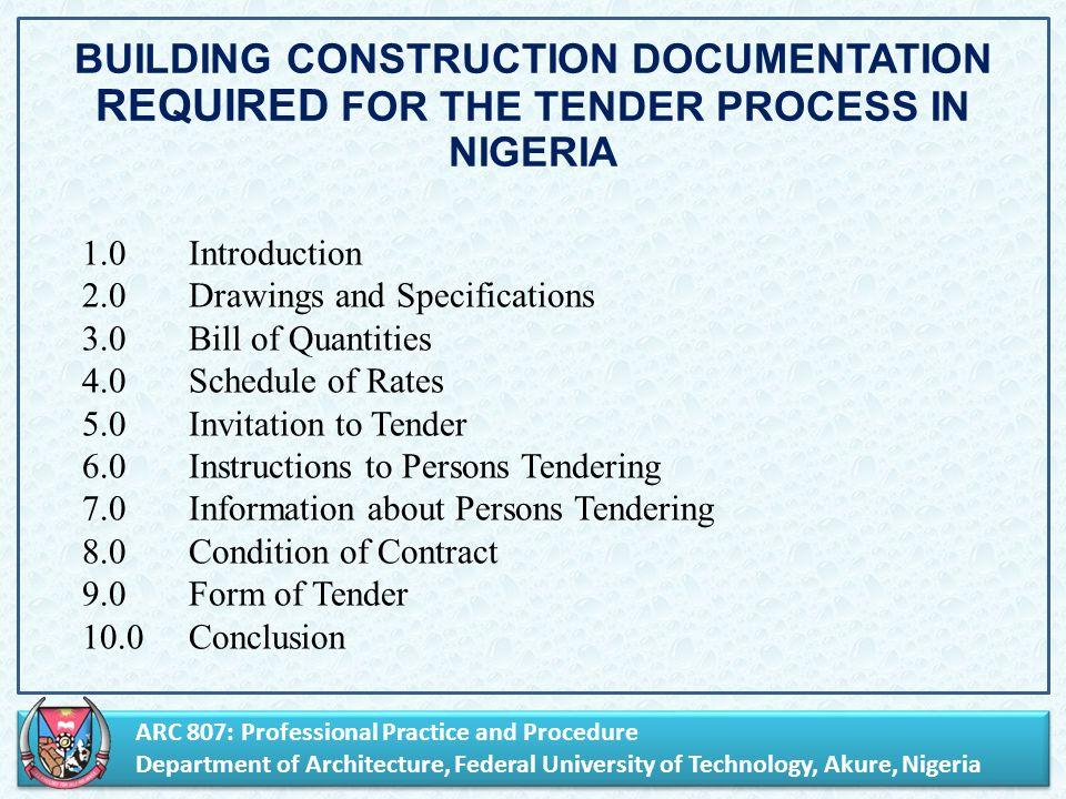 Arc 807 Professional Practice And Procedure Department Of