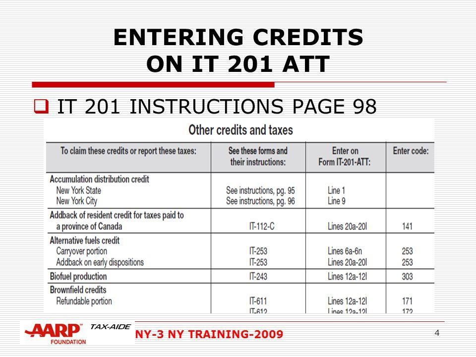 Ny 3 Ny Training Ny Credits Overview Of Ny Credits Ref Nys Pub 99
