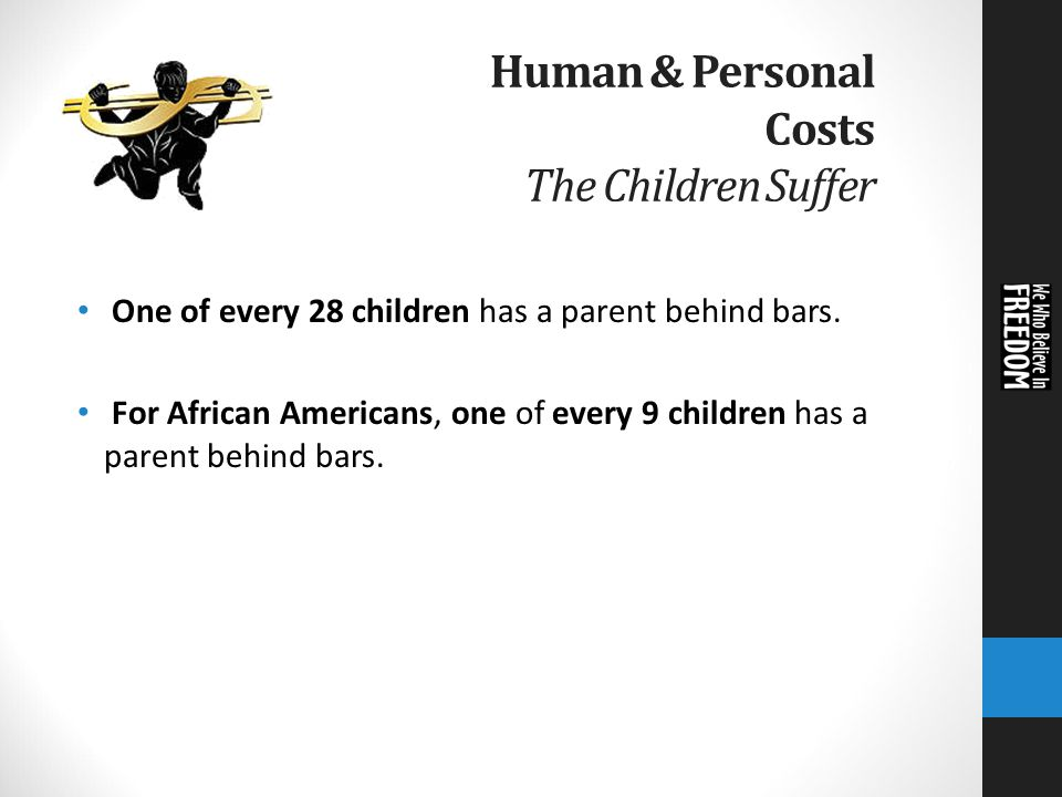 Having Parent Behind Bars Costs >> Resource Guide On Mass Incarceration Session 2 The High