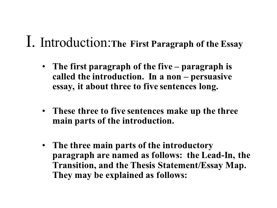 what should be in the opening paragraph of an essay