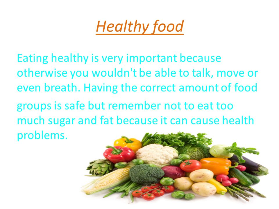 why good diet is important