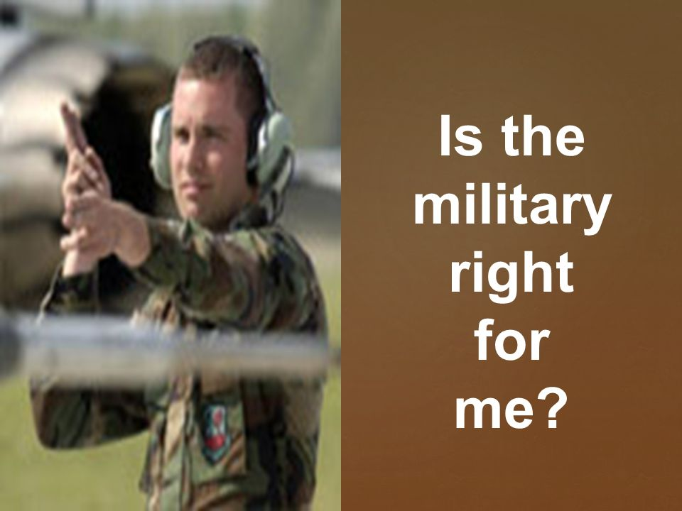 which part of the military is right for me