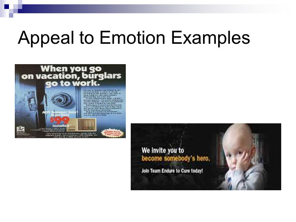 Appeal to Emotion Examples