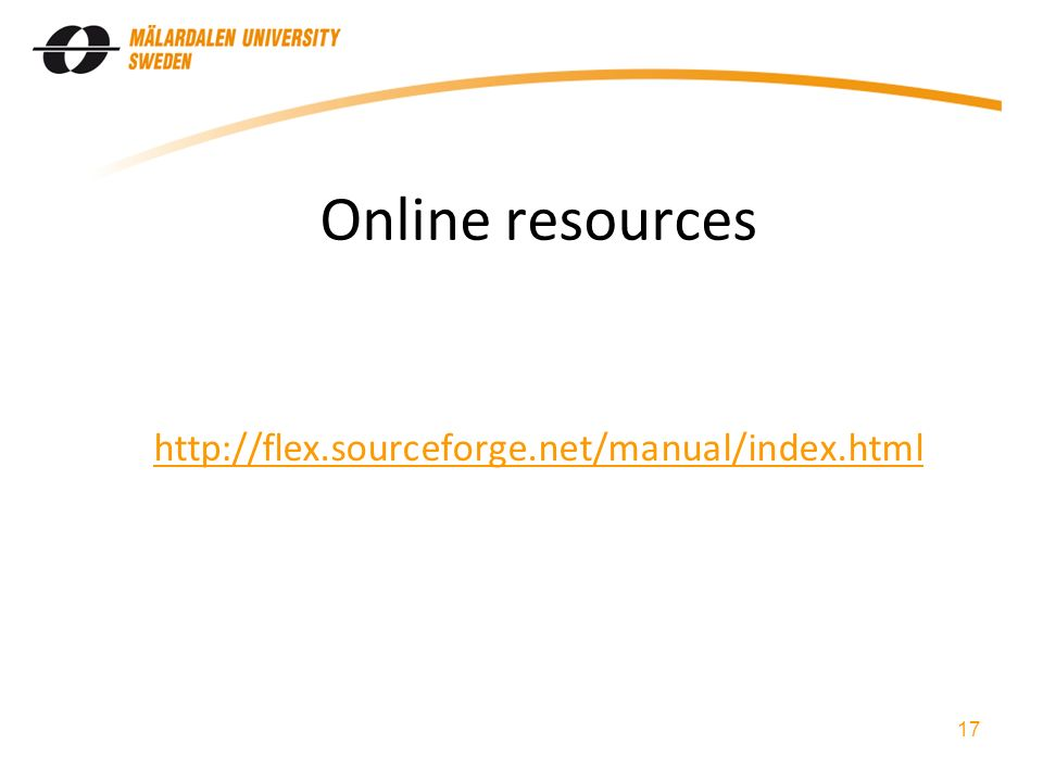 Online resources   17
