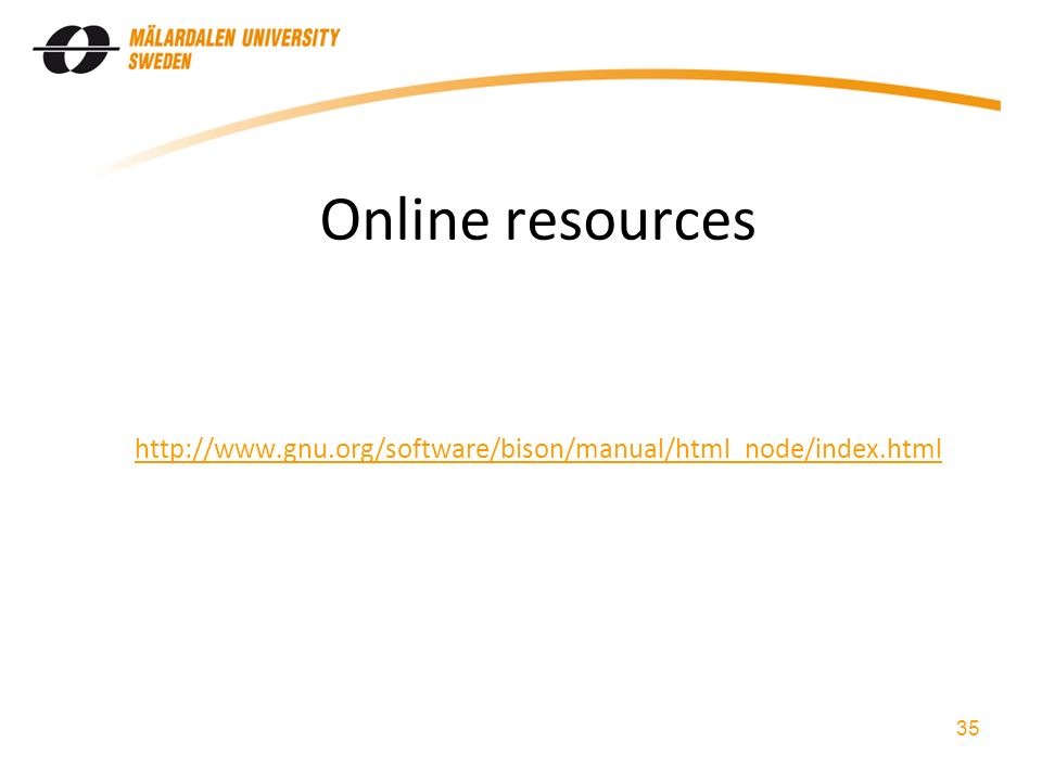 Online resources   35