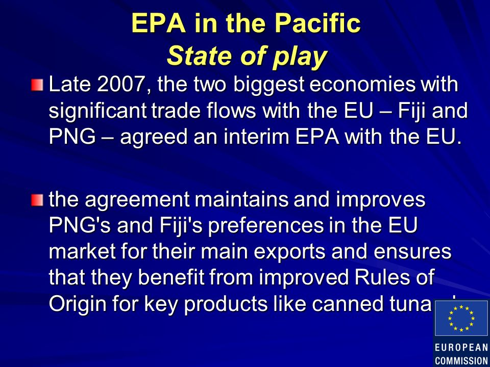 Economic Partnership Agreement Epa And The Pacific Trinnex