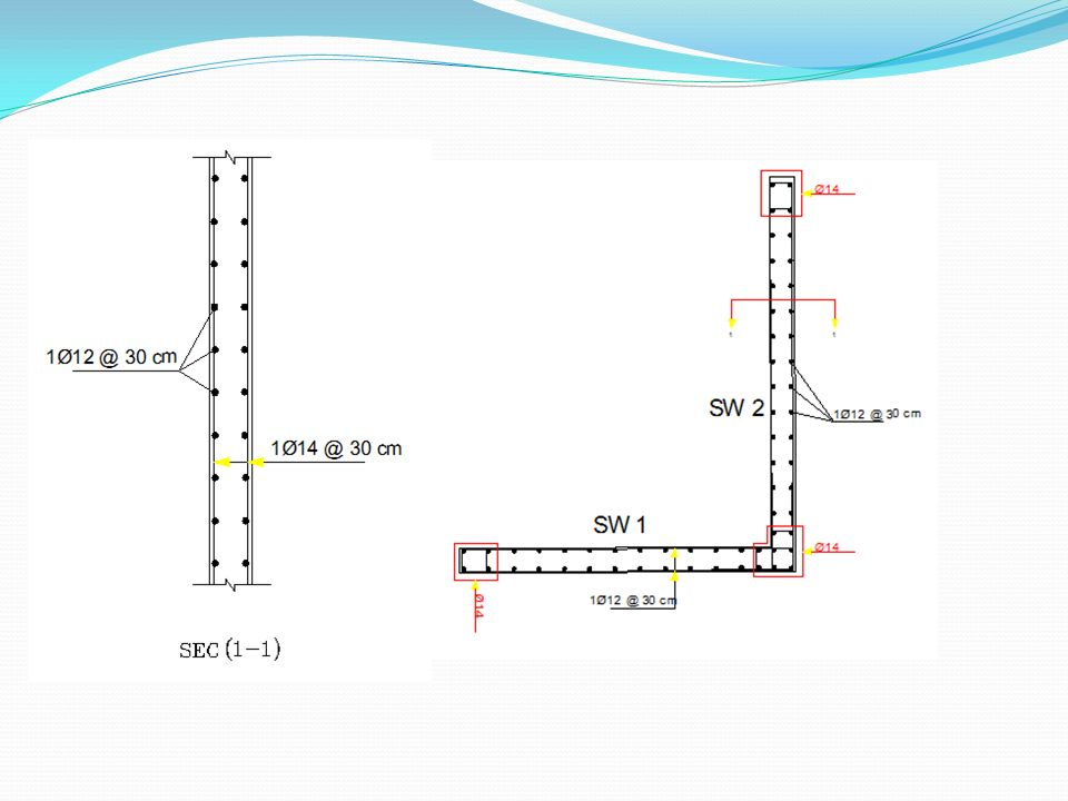 basement wall design. 41 Dynamic Design Basement Wall Design: Shear Dsign: Vu \u003d 110.4 Kn ΦVc  112.4 \u003e Vu, OK For Shear; Deigned As Shear Designed In The Previous Slides. Basement Design