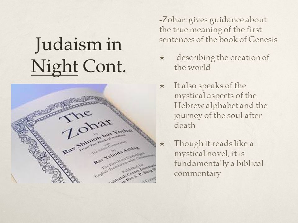 Judaism in Night -Kabbalah- the study of nature of God