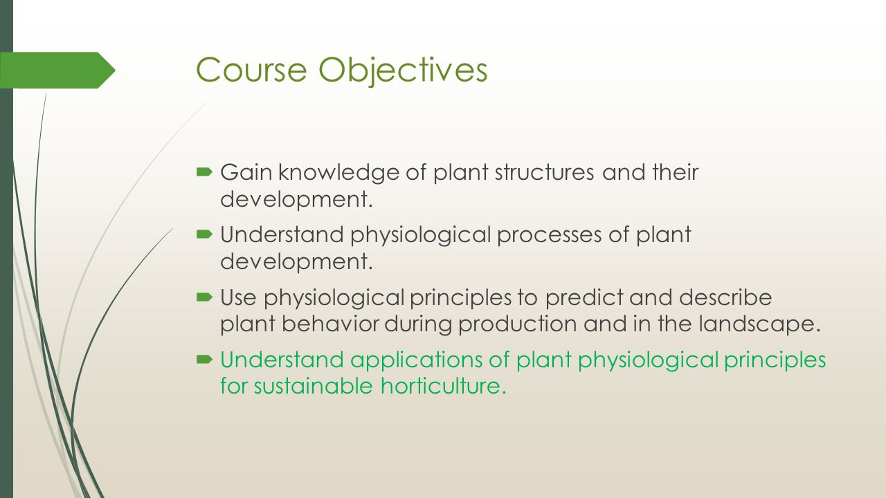 3 Course Objectives ...