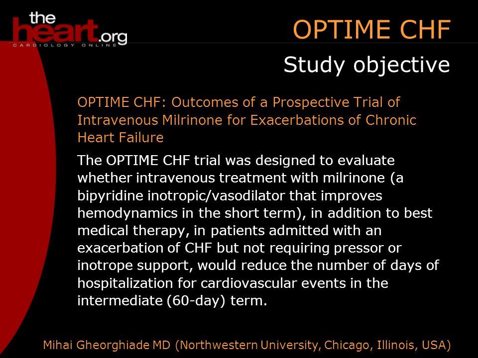 OPTIME CHF and PRAISE II: Recent heart failure trials