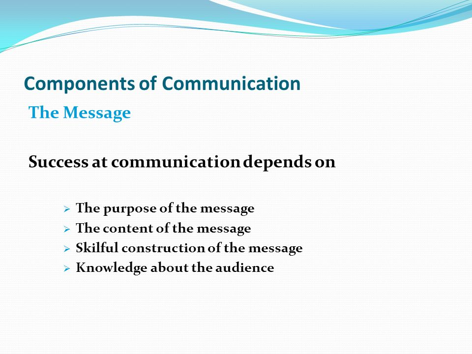 6 components of communication
