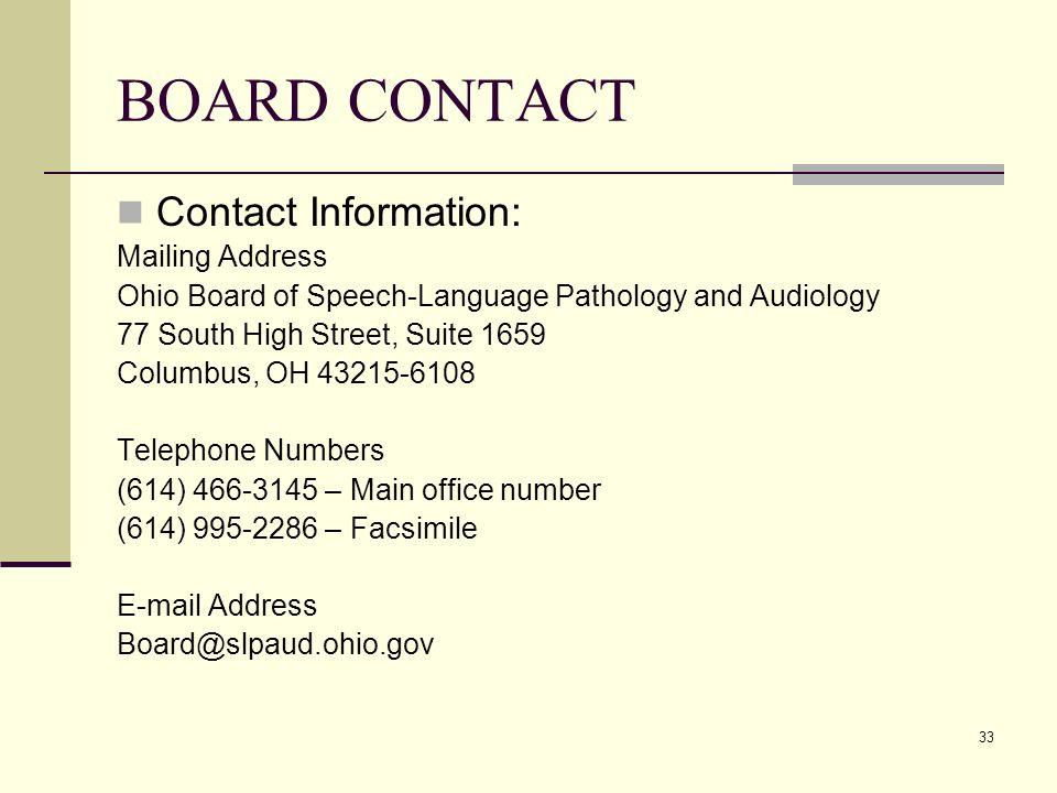 1 Ohio Board Of Speech Language Pathology And Audiology Slp