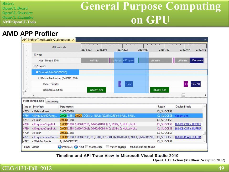 CEG 4131-Fall General Purpose Computing on GPU GPGPU CEG4131