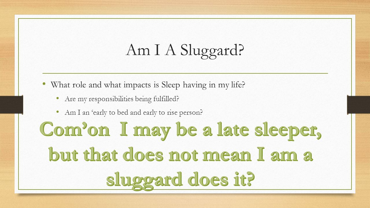 what does sluggard mean