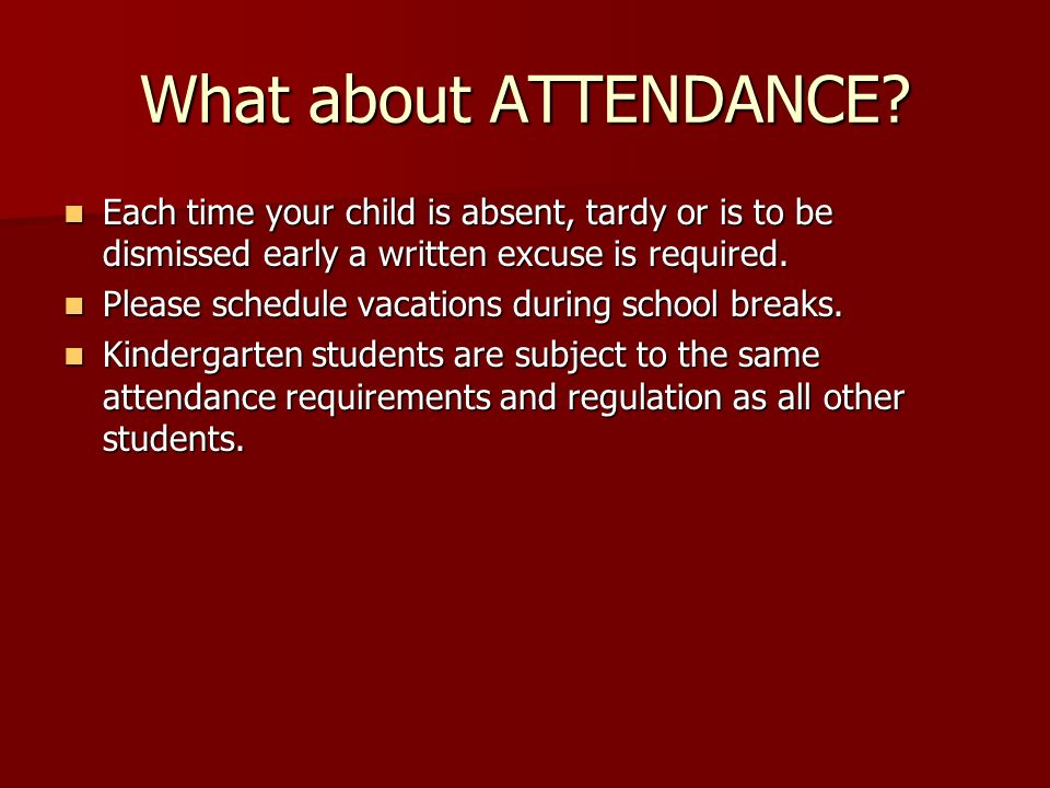 What about ATTENDANCE.