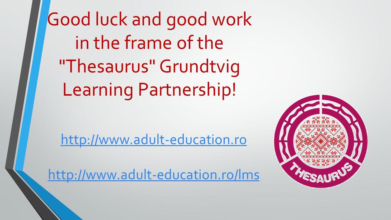 Grundtvig - Thesaurus Webinar Claroline Connect Grundtvig Learning ...