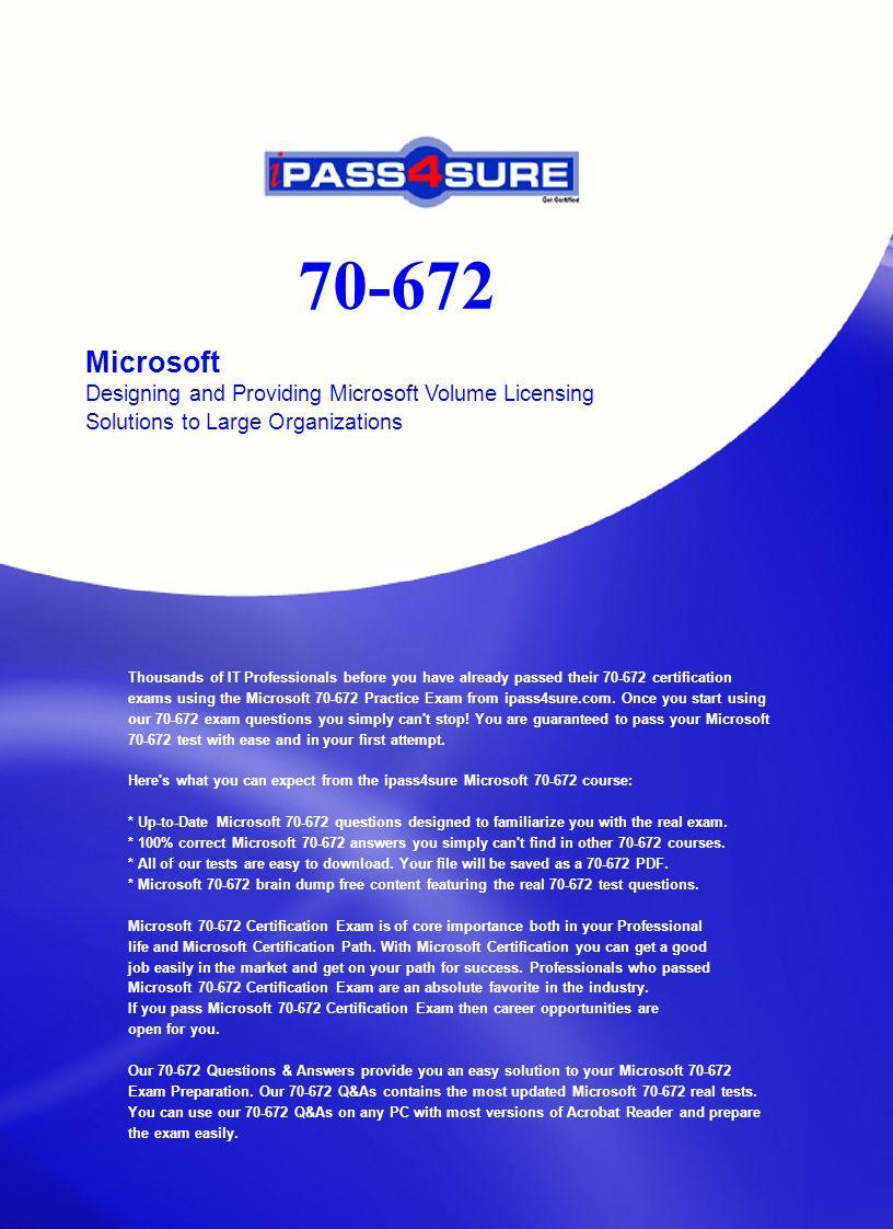 Microsoft Designing And Providing Microsoft Volume Licensing