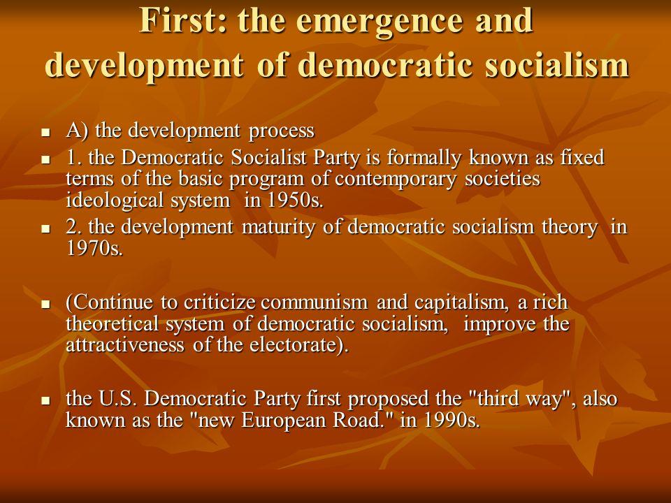 Democratic Socialism Democratic Socialism Also Known As Social Democracy Democratic Socialism Also Known As Social Democracy The Ideological System Ppt Download