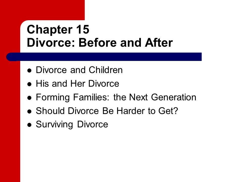 Should divorce be harder to obtain