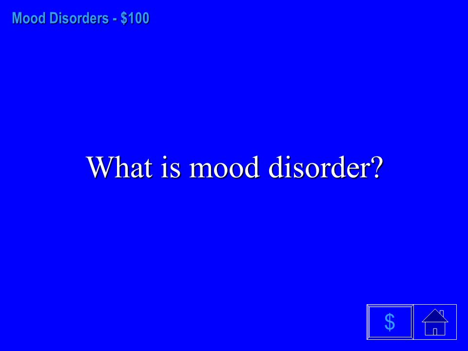 Anxiety Disorders $500 What is obsessive- compulsive disorder $