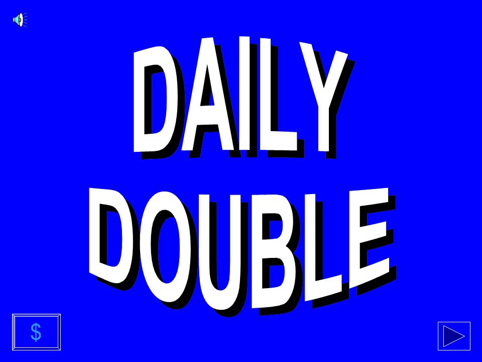 END OF GAME Daily Doubles and usage notes follow...