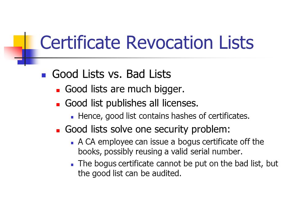 12 certificate revocation