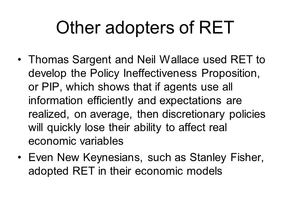 rational expectations theory pdf