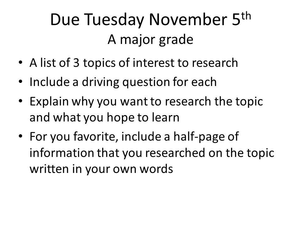scientific research topics