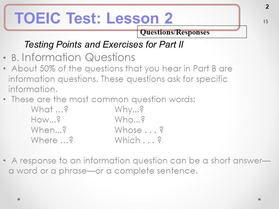 short responses exercises