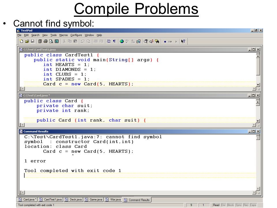 Debugging Compile Problems Read The Whole Complaint Runtime