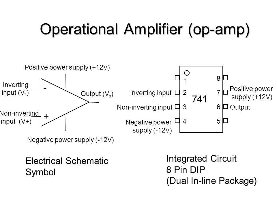 Operational Amplifier Op Amp Positive Power Supply 12v Negative