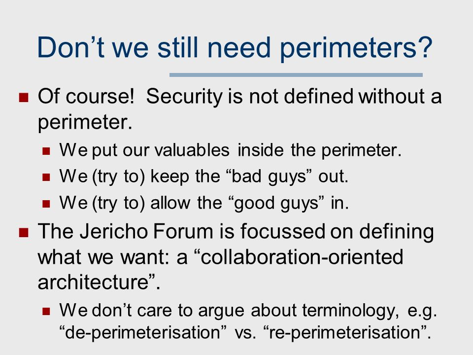 The jericho forums architecture for de perimeterised security 6 dont malvernweather Images