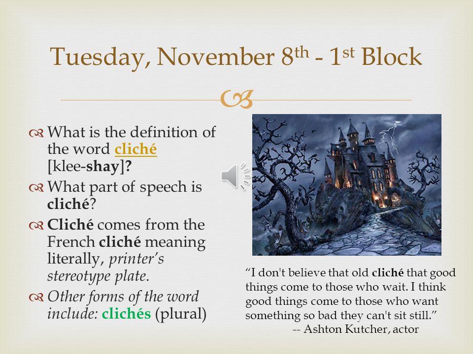 origin of the word cliche