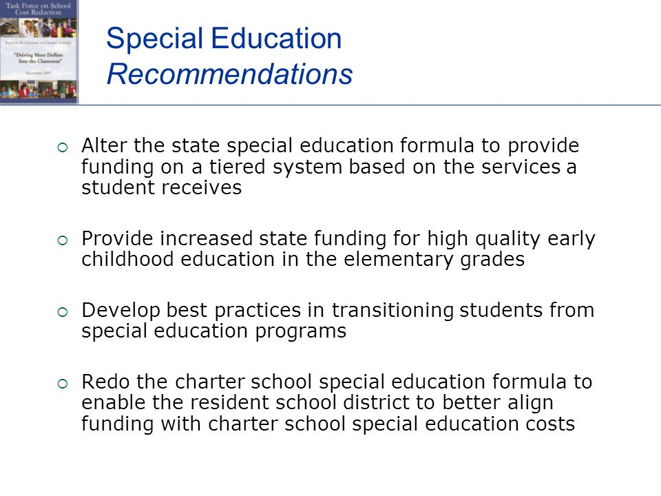 Special Education Costs Force Some >> Task Force On School Cost Reduction Pasbo Annual Conference Thursday