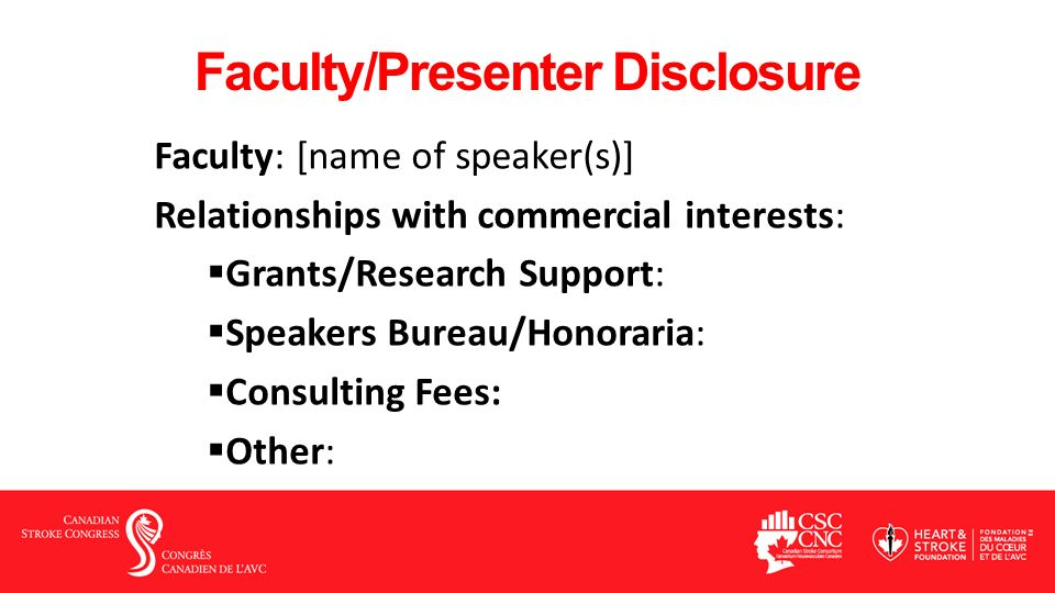 Faculty/Presenter Disclosure Faculty: [name of speaker(s