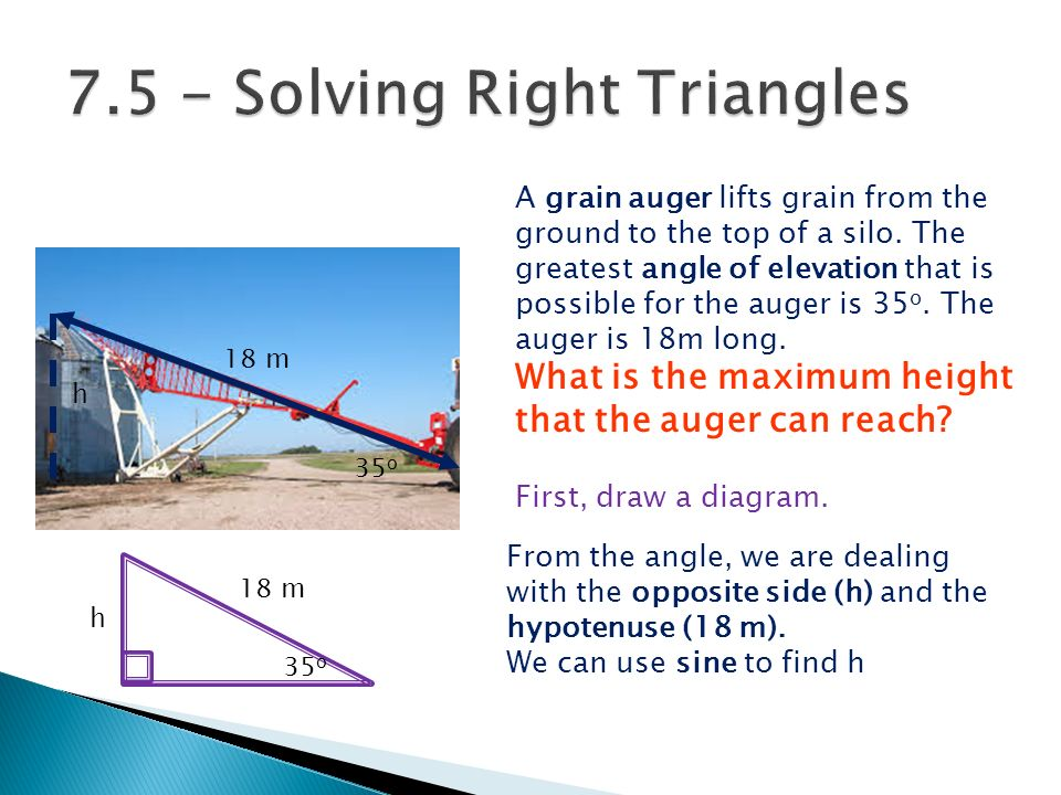 A grain auger lifts grain from the ground to the top of a