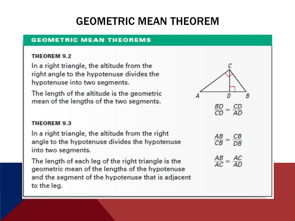 91 Similar Right Triangles Learning Outes I Will Be Able To. 10 Geometric Mean Theorem. Worksheet. Geometric Mean Theorem Right Triangle Worksheet At Clickcart.co