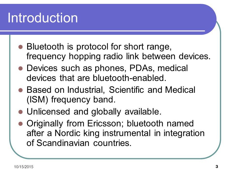 10/15/ Short-Range Radio Frequency Networking B  Ramamuthy