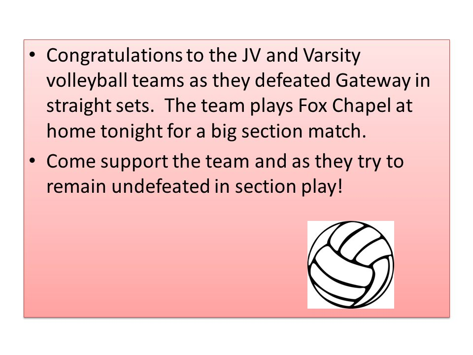 Congratulations to the JV and Varsity volleyball teams as they defeated Gateway in straight sets.
