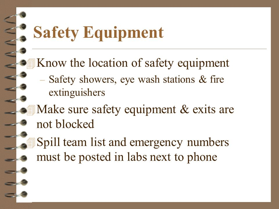 Rockwall-Heath HS Annual Lab Safety Refresher Training  - ppt download