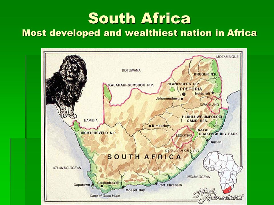 South Africa Most developed and wealthiest nation in Africa
