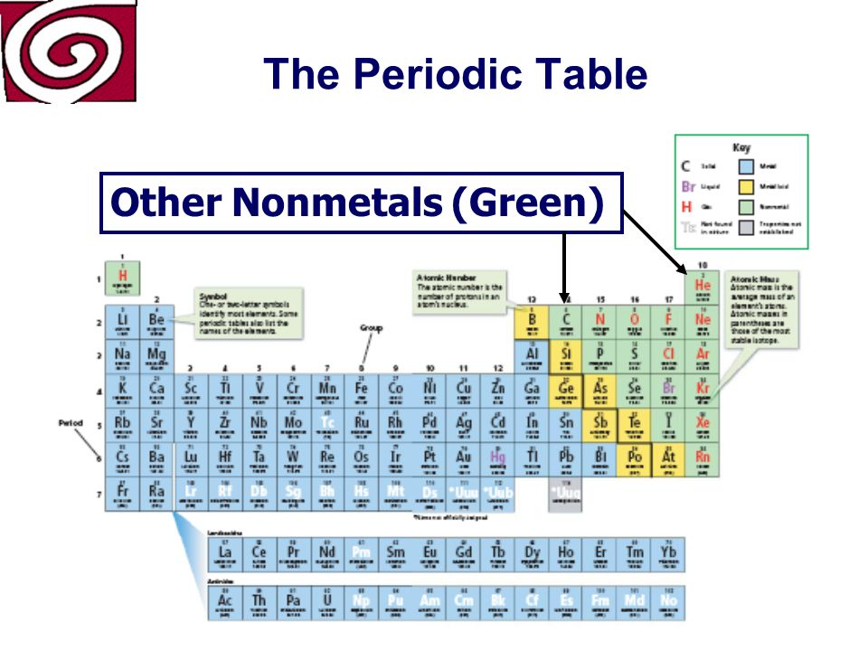 The Periodic Table They react by losing electrons